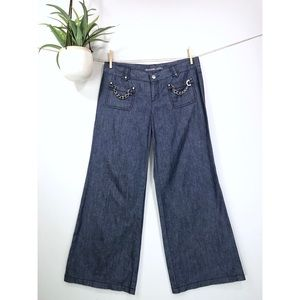 Michael Kors 10P Chambray Wide Leg Pants